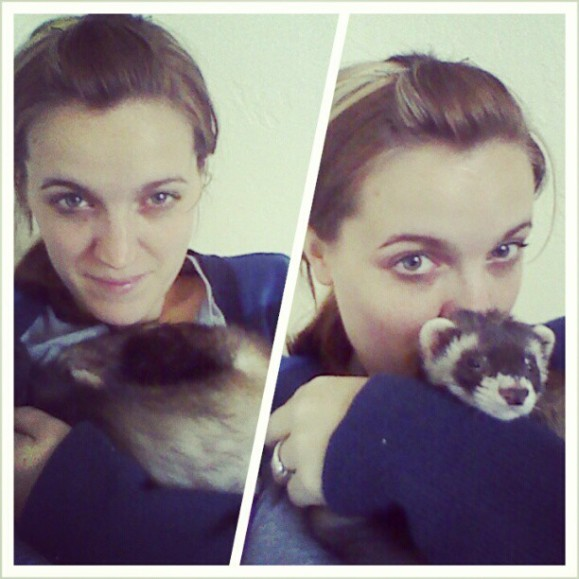 me and banksy. #crazyferretlady.